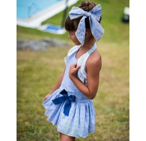 Vestido niña Pin y Pon de La Martinica escote halter
