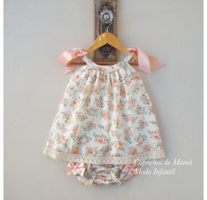 Jesusito bebé niña de Valentina Bebés flores salmón