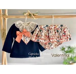 Conjunto bebé niña de Valentina Bebés lazo coral