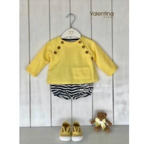 Conjunto bebé niño de Valentina Bebés amarillo y navy
