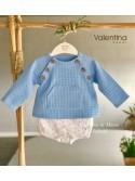 Conjunto bebé niño de Valentina Bebés topitos azules