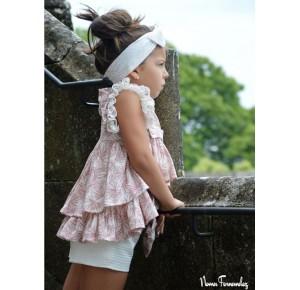 Conjunto niña blusón y short Loira de Noma Fernández