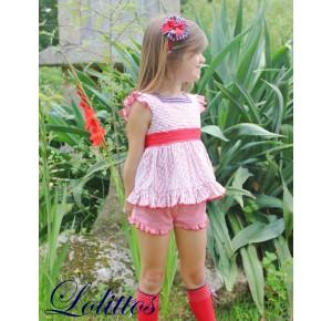 Conjunto niña blusón y short Bike de Lolittos