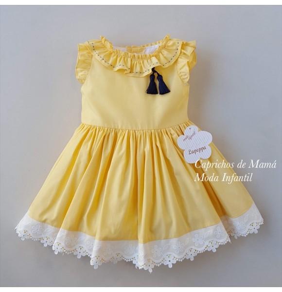 Vestido niña amarillo Pin y Pon de Lapeppa