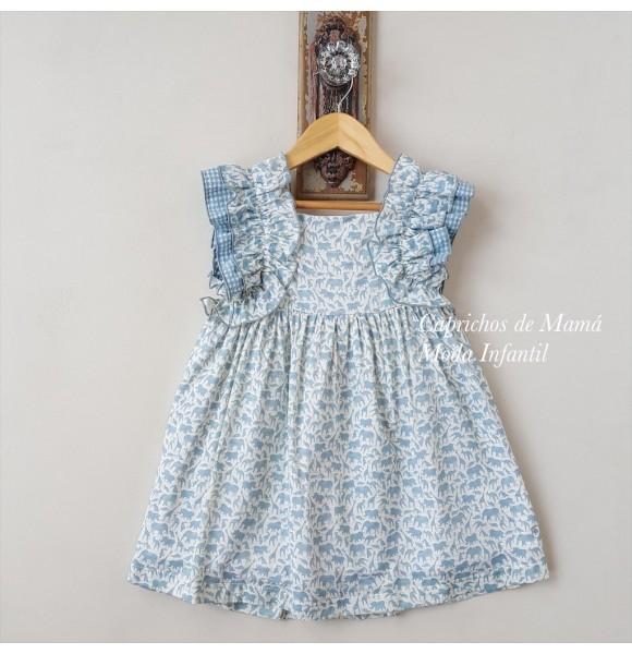 Vestido niña animales de Eve Children azul turquesa