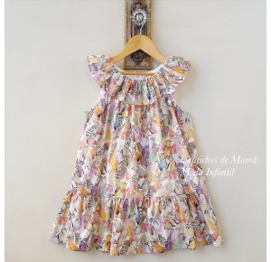 Vestido niña estampado loros de Baby Yiro
