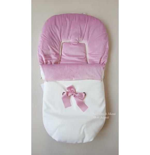 Saco de silla rosa y blanco de Uzturre