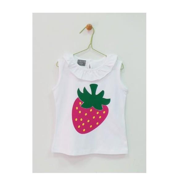 Conjunto niña camiseta y braguita Fresas de Mon Petit